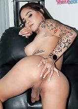 Horny and ready to have fun, White Chinaa can't wait to stroke her cock for you again! Watch her as she has a lot of fun in a brand new solo scen